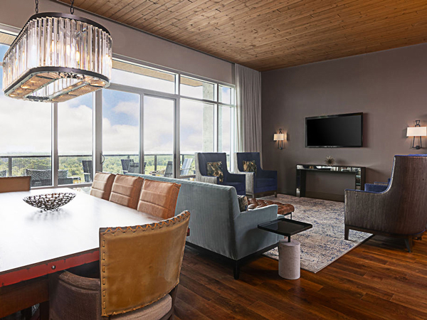Large Room Living Area With Big Windows.